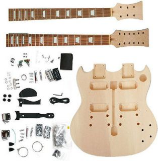 SBD10K NEW QAULITY DOUBLE NECK SG ELECTRIC GUITAR BUILDER KIT BUILD IT
