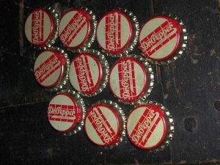 10 OLD VINTAGE DR. PEPPER SODA BOTTLE CAPS