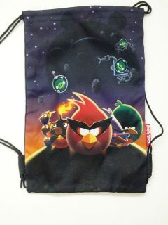 Licensed Angry Birds SPACE Black Sling Bag / Drawstring Bag