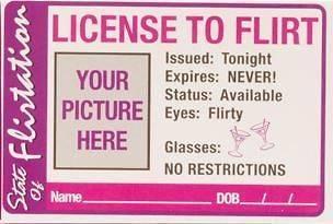 Flirt Badge Button Bachelorette Party Girls night fun, Drinking Games