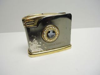 Vintage   FISHER   Table Top Lighter   LACHINE PAPER COMPANY   made