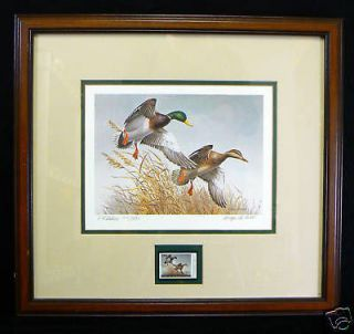 Maynard Reece Mallards Ducks Unlimited Print Stamp