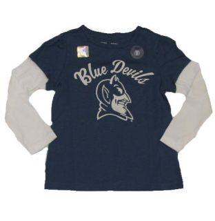 New NWT Girls Officially Licensed Duke Blue Devils Long Sleeve Shirt