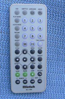 MINTEK RC 1700 DVD Player Remote Control