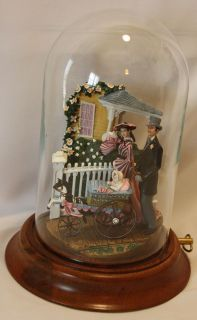 The Wind Bonnie Blues Promenade Domed Music Box COA Franklin Mint