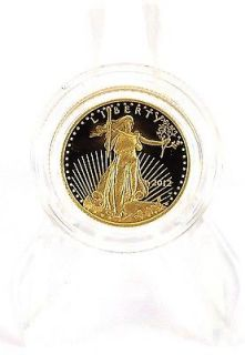 2012 W American Eagle $5 Gold Proof Coin, One tenth Ounce; FAST, FREE