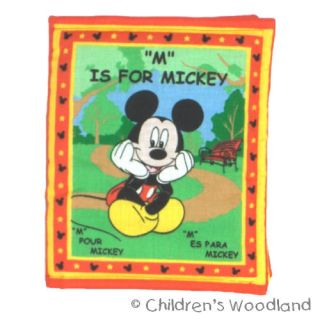 MICKEY MOUSE CLOTH/SOFT BOOK IN SPANISH/FRENCH​ KIDS