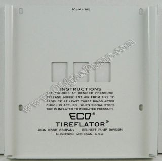 ECO 90 SERIES AIR METER 3 WHEEL FACE PLATE FREE S&H