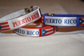 PUERTO RICO RICAN FLAG wrist UNISEX BRACELET SOUVENIR ONESIZE