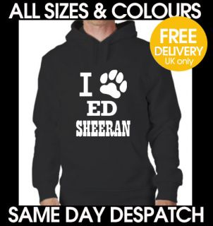love ed sheeran paw print A team lego house Hoodie