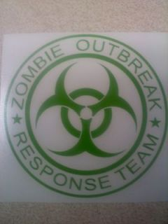 Zombie Outbreak Response Team vinyl sticker decal choose size and
