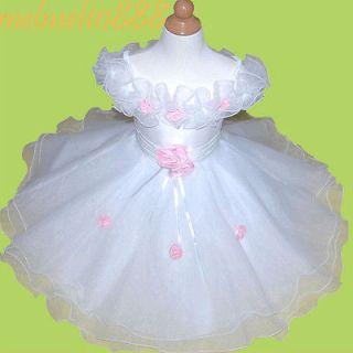 MM07 Holiday Flower Girls Fanny Baby Birthday Gift Dress 6 12Months