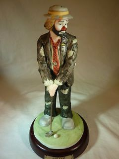 Emmett Kelly Clown Figurine GOLFER by Flambro