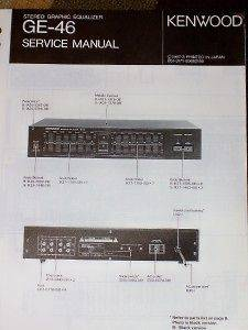 Kenwood GE 46 Graphic Equalizer Service/Parts Manual