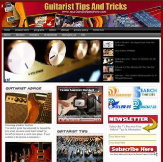Established GUITAR TIPS Turnkey Website For Sale .(Websites by