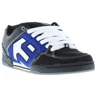Etnies Shoes Genuine Charter Black Royal White Mens Skate Shoes Sizes