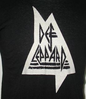 vtg Def Leppard Concert Long Sleeve T shirt 1980s Heavy Metal Tee NOS