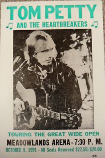 Tom Petty and The Heartbreakers Concert Poster