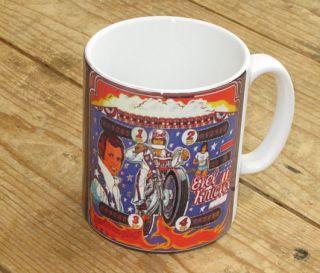 Evel Knievel Daredevil Pinball Machine Advertising MUG
