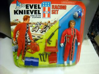 EVEL KNIEVEL Racing Set action figure MOC unpunched 75