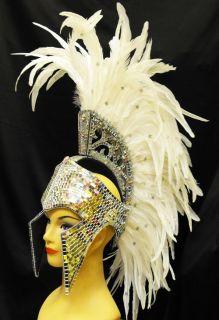 Da NeeNa H017W Mohawk Drag Dress Cabaret Showgirl Roman Headdress