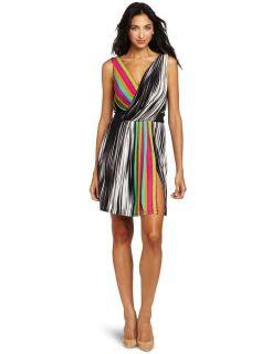 NWT $118 Maggy London Rainbow Stripes Jersey Dress 8