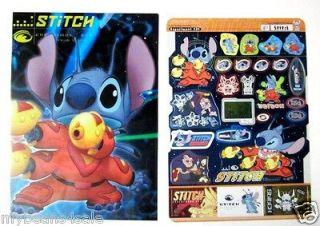 Lilo & Stitch Sticker Sheet & Clear Diecut Folder Scrapbook Experiment