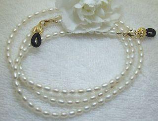 Eyeglass Chain White Pearls Gold (2923) Lanyard