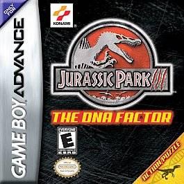Jurassic Park III The DNA Factor Nintendo Game Boy Advance, 2001