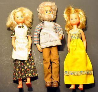 1973 SUNSHINE FAMILY DOLLS MOM STEPHINE, DAD STEVE IN ORIGINAL CLOTHS