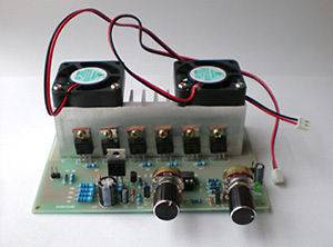12 30V 50A DC Motor Speed Controller With Cooling Fan