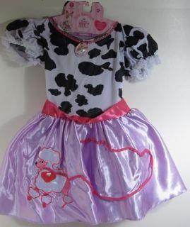Fancy Nancy POODLE DRESS Costume COW Child 4 6X 3+ pretend party