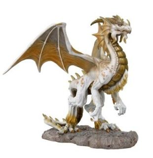 WHITE DRAGON ANCIENT ALPINE MOUNTAIN STATUE TOM WOOD FANTASY ART