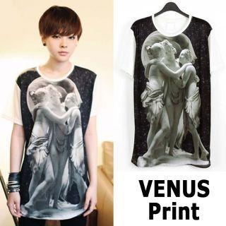 Tshirt with Graphic Print VENUS KPOP Star Korean Fashion Men Women