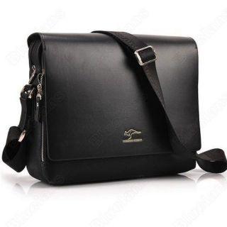 Kangaroo Mens Crossbody Shoulder Messenger Bag Briefcase Black L