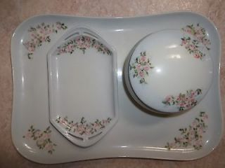 MZ Austria Moritz Zdekauer Germany Limoges France Porcelain Vanity Set
