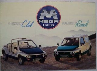 Aixam 1992 Mega Microcar Sales Brochure in French