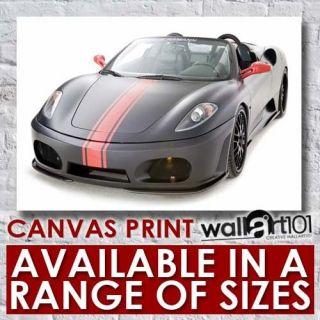 Ferrari F430 Hamann Black Miracle (4) High Quality Framed Canvas Art