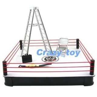 New WWE Ring Arena W/ Accessories Ladder Belt + Figure