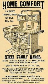 1892 Ad Antique Wrought Iron Steel Range Kitchen Cook Stove Household