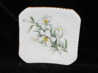 ROYAL ADDERLEY   White Lily floral design   PIN DISH
