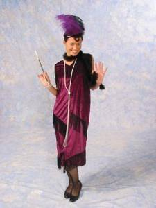 Flapper Dress Adult Womens Costume Roaring 20s Gatsby Wine Burgundy