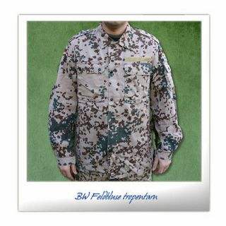 Original german army combat shirt desert tropical camo flecktarn