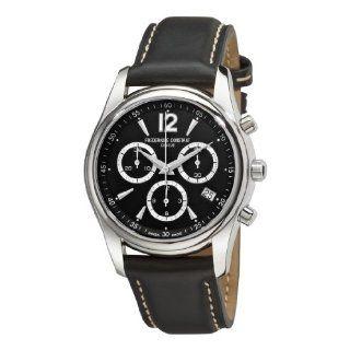 Frederique Constant Mens FC 292BS4B26 Junior Black Chronograph Dial