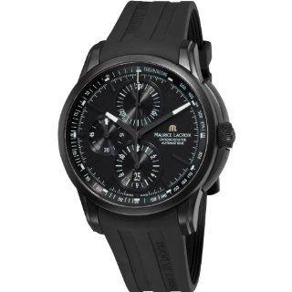 Maurice Lacroix Pontos Chronograph Mens Black Rubber Strap Watch