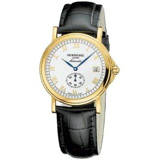 Raymond Weil Tradition Black Leather Strap Mens Watch 2835 P 00808
