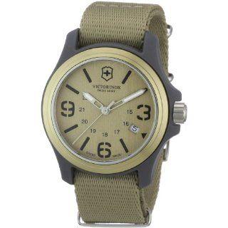 Victorinox Swiss Army Mens 241516 Original Tan Dial and Strap Watch