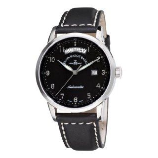 Zeno Mens 6069DD C1 Magellano Black Day Date Dial Watch Watches