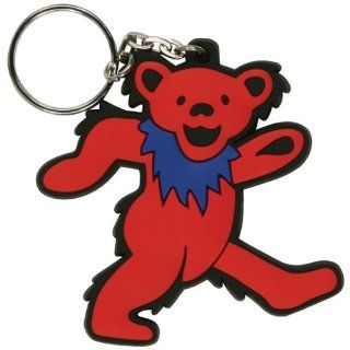 Grateful Dead   Red Dancing Bear Keychain: Clothing