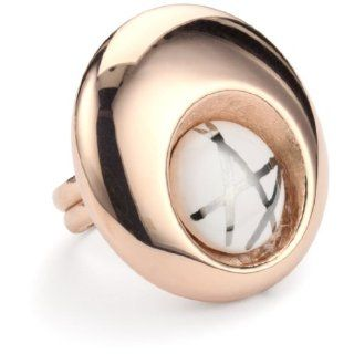 Invicta Incanto 18k Rose Gold Plated and White Ceramic Adjustable